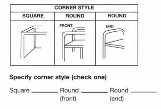 Corner Style Choices
