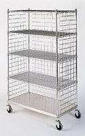 Chrome and stainless steel linen cart
