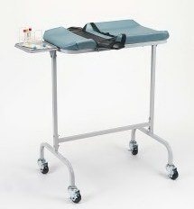Infant Blood Drawing Station with locking casters.