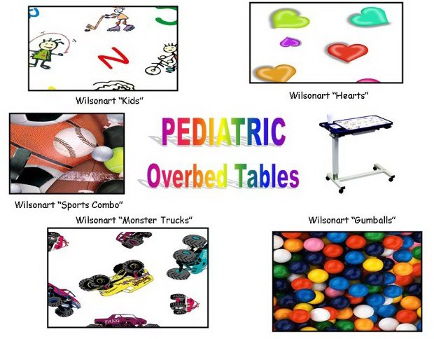 Laminate color choices for Pediatric overbed tables