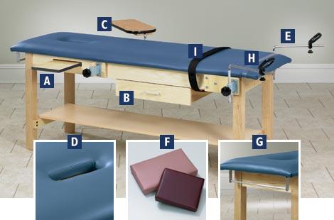 Exam Tables Examination Treatment Room Medical Wood Winco