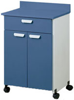 One Drawer Mobile Cabinet with backsplash