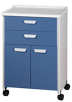 Mobile Bedside Cabinet with molded top