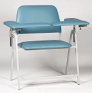 Ergonomic Height Wide Blood Drawing Chair with two flip arms