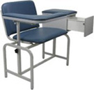 Winco Extra Wide Blood Drawing Chair with Drawer and Flip Arm