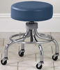 2102 Chrome base stool with round footring and rubber casters