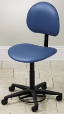 Clinton Foot-Activated Stool with Backrest
