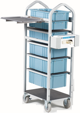 supply cart with 6 drawers