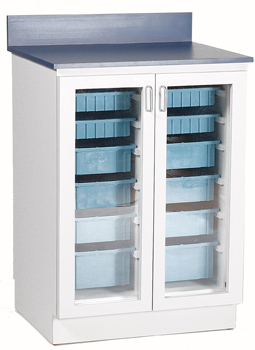 "20"" Base Cabinet with Clear Lexan Doors"