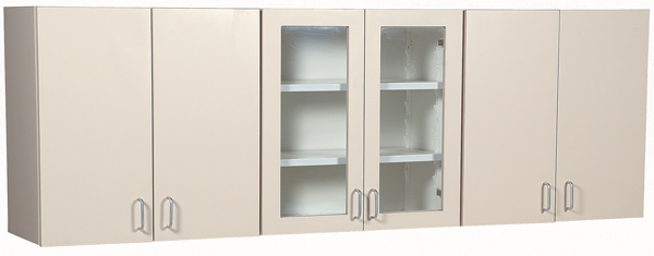 "72"" Wall Cabinet with Lexan Doors"