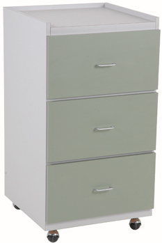 "20"" wide mobile supply cabinet with drawers"