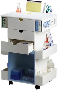 supply cart with drawers