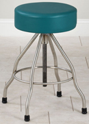 Clinton Stainless Steel Stool with Rubber Feet
