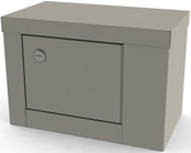 7784 UMF Single Door/ Single Lock Narcotic Cabinet