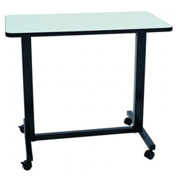 Dual Column Table with Spring Loaded Height Adjustment