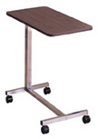 Economy Overbed Table with Spring Loaded Height Adjustment
