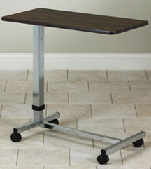 Economy Overbed Table with H Style Base