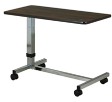 Low Height Overbed Table with H Style Base