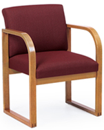 Lesro #R1401G3 Contour Series Full Back Guest Chair