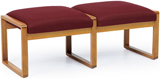 Lesro #2001B3, Contour Collection, 2 Seat Bench