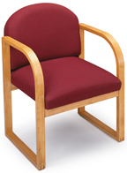 Lesro #R1301G3 Contour Series Round Back Guest Chair