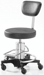 Hydraulic Surgeon's Stool with upholstered back