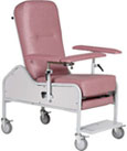 Reclining Treatment Chair with Traveling Arms