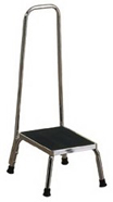 Brewer Stainless Steel Step Stool with handrail