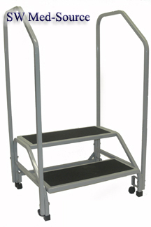 Bariatric Medical Step Stool with handrails