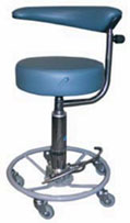 Hydraulic Surgeon's Stool with Procedure Rest