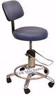hydraulic surgeon stool with backrest