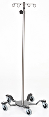Stainless Steel IV Pole with color coded base